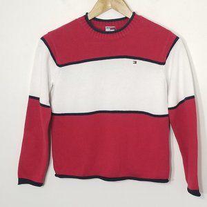 Tommy Hilfiger Kids Knit Color Block Sweater Top 7